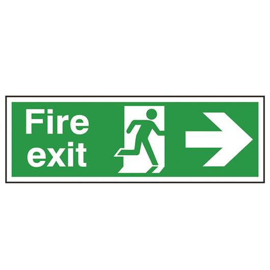 Picture of Fire Exit Right Arrow Sign