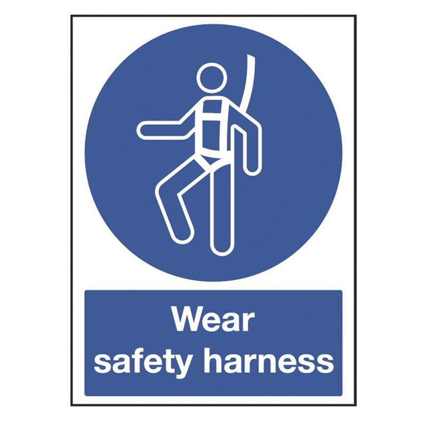 Picture of Wear Safety Harness Sign
