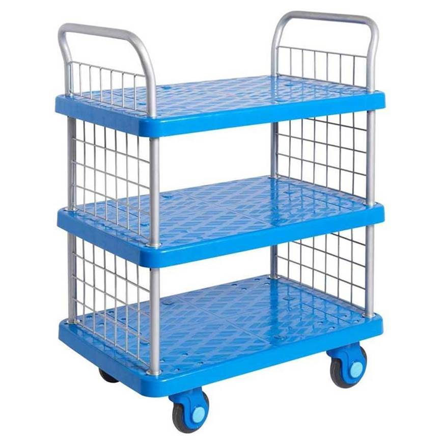 Picture of Proplaz Super Silent Three Tier Trolley with Mesh Ends