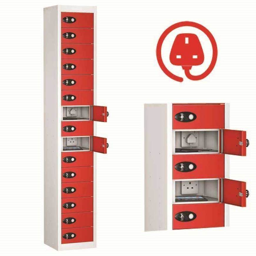 Picture of TabBox Lockers with 3 Pin Charge Points