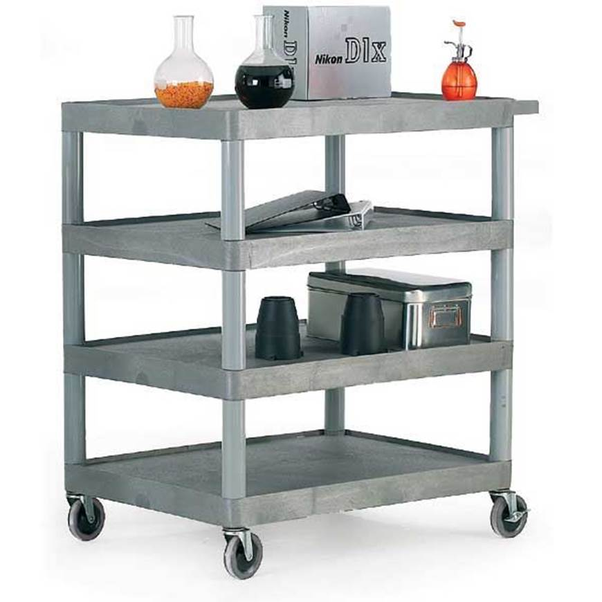 Picture of Large Grey 4 Shelf Trolley