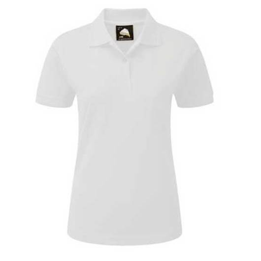 Picture of Womens White Polo Shirt