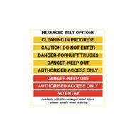 Picture of Premium Weatherproof Barriers - Messaged Belt