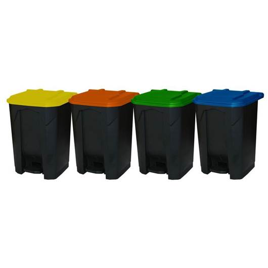 Picture of Pedal Bins with Coloured Lids